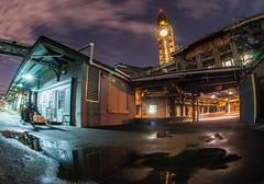The Dark Side of the Depot (sullivan1985) Tags: railroad night lights newjersey december nj clocktower erie hoboken lackawanna dlw njtransit erielackawanna hobokenterminal erierailroad