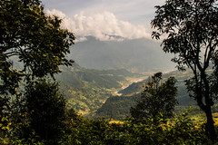 The Valley (Steve Vallis) Tags: trees nepal clouds landscape framed valley annapurna