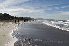 South by the shore (LeftCoastKenny) Tags: fortfunston pacificocean clouds beach shore cliffs hikers surf