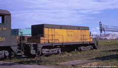 C&NW Booster Unit BU8 at Superior, Wisconsin on September 2, 1972 (Twin Ports Rail History) Tags: twin ports rail history by jeff lemke 1972 connors point superior wisconsin cnw north western railway booster unit diesel electric locomotive chicago omaha cstpmo slug slave trailer
