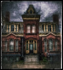 The haunting... (Sherrianne100) Tags: spooky dark dilapidated scary halloween oldbuilding haunted