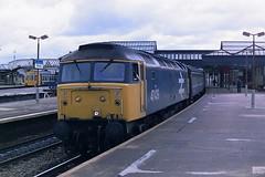 BRITISH RAIL 47439 (bobbyblack51) Tags: british railways class 474 brush type 4 sulzer coco diesel locomotive 47439 stirling station 1987
