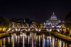 Tiber's lights (Ivan_Sanchez) Tags: tiber roma rome vaticano vatican nocturnal noche nocturna nights lights luces reflejos reflections canon sigma 2470mm