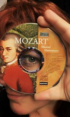 Day 252 of Year 7- Mozart... (Pahz) Tags: 365days selfportrait werehere classicalmusic mozart cd music hereios wah wh eye