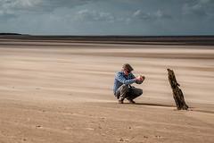 Man and Groyne (Trip 49) Tags: groyne norfolk coast brancaster beach
