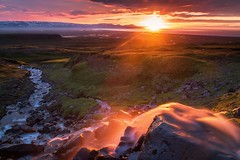 Valley of Fire (Teemu Kustila Photography) Tags: leicamtype240 iceland summer sunset river goldenhour beautiful light sun mountain valley outdoors camping ilobsterit