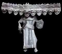 ORIGAMI - RAVANA (10-headed Demon King) !! (Neelesh K) Tags: origami ravana dashanan demon king lanka diwali dussehra 64 grids boxpleating tracing paper neelesh k super complex