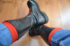 Skinhead 20 Hole Boots (Scally Skin - Love skins Love Scally) Tags: skinheadboots skinhead skinheadgear skinheadbraces redsocks redbraces britishskins jeans boots 20holeboots blackskinheaqdboots redlace fred perry fredperry skinboots skinheadgay bgsskinheads
