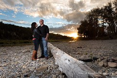 Corey and Jenna's engagement (Darryl Renyk Photography) Tags: wow landscape river water portraits engagement strobe portrait sunset professional yycphotographer alberta calgary