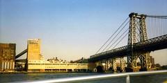 Old Domino Sugar factory, Williamsburg Bridge, 2006 (Dan_DC) Tags: newyork brooklyn manhattanbridge domino dominosugar eastriver bridge waterfront steel nyc