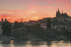 Prague Castle a evening view (Ranjith Kizhakoodan) Tags: czech sunset sundown skyline sky redsky nature clouds sun romance czechrepublic prague czechgirl praha love travel summer cz prag ranjith vacation instatravel photooftheday city citywalk ranjithkizhakoodan