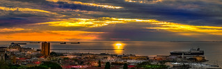 Sunset in Trieste