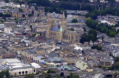 Truro city centre aerial view (John D F) Tags: cornwall truro cathedral city aerial aerialphotography aerialimage aerialphotograph aerialimagesuk aerialview britainfromabove britainfromtheair
