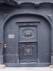 Black Door (1elf12) Tags: smileonsaturday blackbeauty door tür siemens stammhaus goslar unesco germany deutschland holz wood gate tor