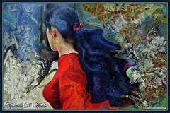 Due fiorellini rossi tra i capelli - Dicembre-2016 (agostinodascoli) Tags: digitalart digitalpainting digitalgraph donne nikon nikkor photoshop photopainting persone art agostinodascoli texture rosso capelli