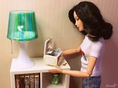 Just a moment... (saratiz) Tags: carillon barbiemadetomove repaint ooak lamp kokeshi