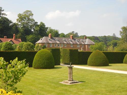 Powis Castle. Garden house & sundial.