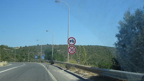 Auffahrt Boliqueime zur A22 (Algarve), Portugal - Puh, Glück gehabt ... wir dürfen weiterfahren ...