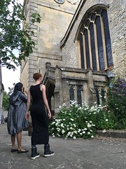 Saint Mary Magdalene Church - Woodstock, England - Flowerbed - B (seththompsonartist) Tags: flowers flower garden stone church magdalene wall