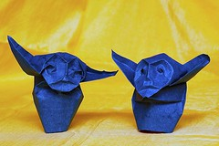 Father and Son (De Rode Olifant) Tags: origami fatherandson father son paper paperfolding marjansmeijsters ericjoisel littledemon variationoflittledemon 3d