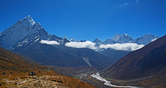 Dingboche Mountains (Fareed Gujjar - Next Mount Everest April 14) Tags: dingbouche mountains aba dablam pumri everest base camp nepal