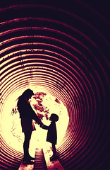 Mothering (Thomas Hawk) Tags: mrsth juliapeterson julia kate katepeterson losangeles tunnel silhouette mother daughter wife spouse bigtujungacanyon angelesnationalforest fav10 fav25 fav50