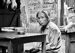 Street Stories (johey24) Tags: blackandwhite bw street candid raw china shanghai oldshanghai food restaurants old people oldpeople oldwomen mpt513 matchpointwinner