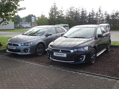 2016 Mitsubishi Lancers (harry_nl) Tags: germany deutschland 2016 leer mitsubishi lancer autohaus scholtalbers verkauft