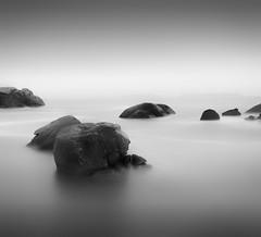 Rocks and water in Britanny (wolffslicht) Tags: bretagne breizhe rocks water light shadow sea dust longtime exposure outdoor landscape seascape minimalistic fineart