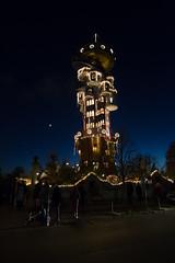 Hundertwasser Tower in Christmas lighting (berndkru) Tags: canonef24mmf14liiusm canoneos6d abensberg christmas weihnachten night nacht kuchlbauerturm kuchlbauer hundertwasser architektur architecture blau blue