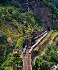 BLS Re 44 & SBB RABDe 500 Boscerina tunnel Dazio Grande 13 July 2015 (2) (BaggieWeave) Tags: switzerland swiss swisstrains gotthard gotthardrailway suisse schweiz svizzera ticino daziogrande polmengoviaduct sbb cff ffs bls rabde500 gotthardbahn gottardo re44