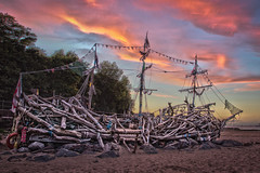 The Black Pearl. New Brighton. (Yanny B) Tags: black brighton driftwood galleon the worldfamous pearlnew wirrals