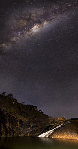 Serpentine Falls, Western Australia - Vertical Panorama