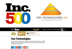 VeeTechnologies in Inc500 list of 500 fastest growing companies in the U.S (Vee Technologies) Tags: usa inc top500 inc500 veetechnologies