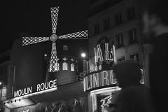 Paris (Mattia Terribile) Tags: city travel people bw paris night lights europe moulinrouge interrail parigi