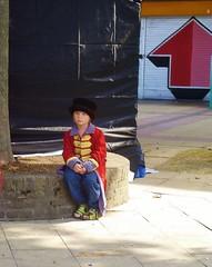 The Little Prince (helenoftheways) Tags: uk people london children uniform sitting sad sit arrow seated wistful chrispstreet lpalone2