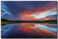 Explosive Sunrise (Fraggle Red) Tags: morning storm nature clouds sunrise reflections landscape dawn florida wetlands thunderstorm hdr stormclouds boyntonbeach 7exp calmmorning greencay greencaywetlands canonef1635mmf28liiusm dphdr palmbeachco canoneos5dmarkiii 5d3 5diii