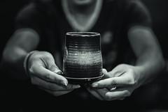 """Maccha"" (Korocco) Tags: portrait blackandwhite green monochrome dark tea deep blurred maccha"
