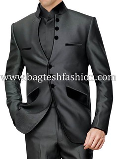 Exclusive Front Open Three Piece Wedding Suit