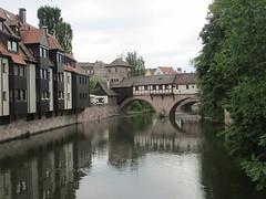 Henkersteg, Pegnitz River, Nuremberg, Germany (Paul McClure DC) Tags: architecture germany bayern deutschland bavaria nuremberg franconia historic franken nrnberg may2015