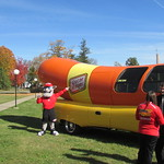 The Wienermobile Visits Campus