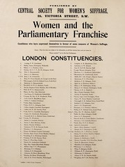 Suffrage campaigning: London Consituencies: List of Pro-Suffrage Parliamentary Candidatesc.1907