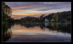 stourhead lake (jdl1963) Tags: stourhead house garden gardens lake water tree colour bridge stately home reflection sunset hdr