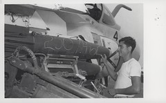 Robert Lynam Marks 500 Pound Bomb, 1968 (Marine Corps Archives & Special Collections) Tags: marine war jonathan vietnam corps marines abel