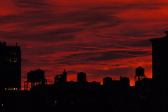 NYC Autumn Sunset 11/22/2015 (Kościuszko) Tags: nyc newyorkcity pink autumn sunset red sky orange newyork fall yellow skyline clouds purple ominous manhattan fallcolors sony apocalypse surreal upperwestside westside tamron watertank homesweethome deepred uws apocalyptic watertowers amsterdamavenue bloodred lookingsouthwest nycrooftops ghostbustersii autumninnewyork sonyalpha nycphotography 150600 seasonofevil manhattannightsky nycfeelings