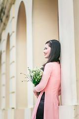 Áo dài 2015 (Trung còi (Jack Bean)) Tags: autumn love lotus bokeh ky traditional vietnam romantic lonely hanoi aodai jackbean kinh hoangthanh sinhvien kyyeu