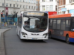 BD14 KXT: Charles Street, Leicester, 02/12/2015 (47609FireFly) Tags: bus volvo leicester first malta wright charlesstreet firstgroup singledeck lowfloor maltabus volvob7rle b7rle wrighteclipse firstleicester firstmidlands bd14kxt bus368