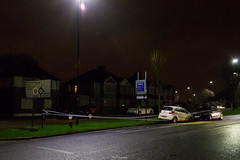 RTC at Petts Hill, Northolt (LFaurePhotos) Tags: life road houses cars car night crash vehicle middlesex westlondon newyearsday collision auditt fordka a312 northolt pettshill