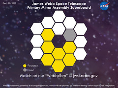 Mirror Installation #7 (James Webb Space Telescope) Tags: space nasa telescope webb hubble jwst jameswebbspacetelescope hubblessuccessor