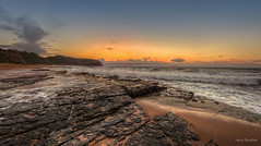 There's a feeling I get when I look to the west (but this is not it) (JustAddVignette) Tags: ocean sky cliff seascape beach water clouds landscapes sand rocks waves dusk sydney australia east newsouthwales late headland northernbeaches seawater turimetta
